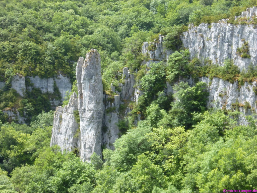 Die Felsformationen sind wirklich beeindruckend