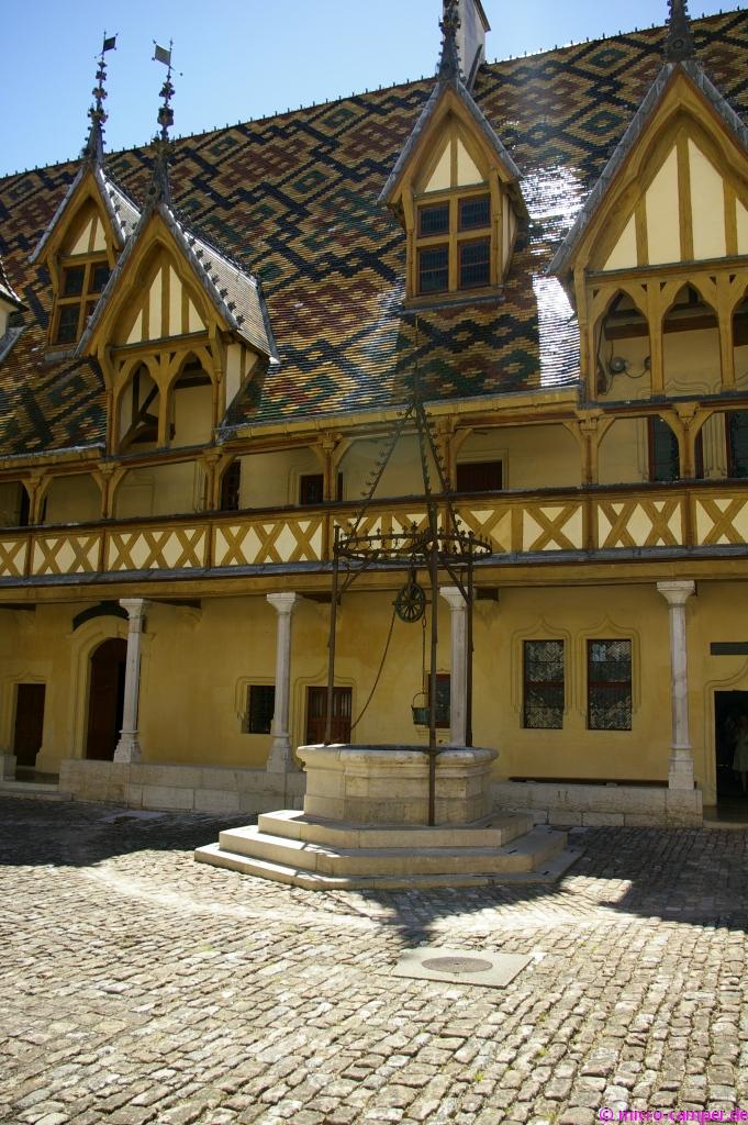 Innenhof des Hôtel Dieu in Beaune